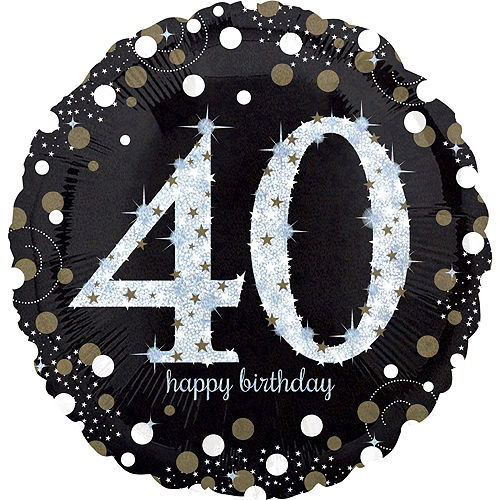 Sparkling Celebration 40th Birthday Deluxe Balloon Bouquet, 7pc Image #4