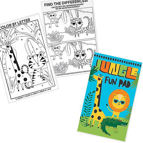 Jungle Fun Activity Pads 8ct Image #1