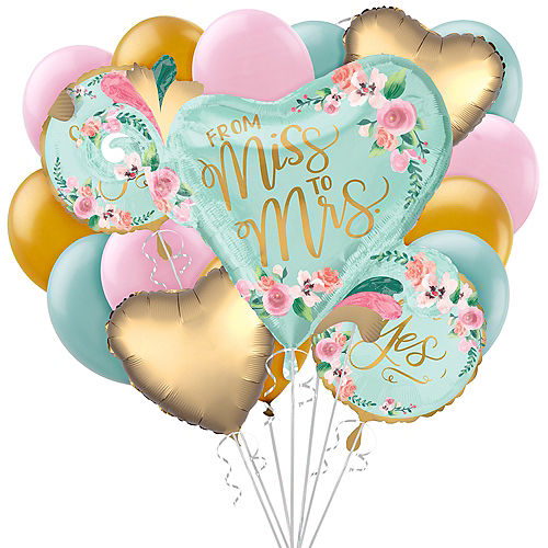 Mint to Be Bridal Shower Balloon Bouquet, 17pc Image #1