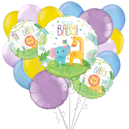 Hello Baby! Shower Balloon Bouquet, 17pc - Fisher-Price Image #1