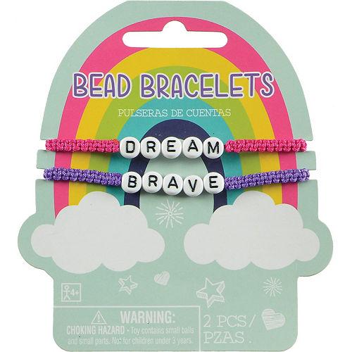Pink & Purple Inspirational Beaded Bracelet Set, 2pc Image #1