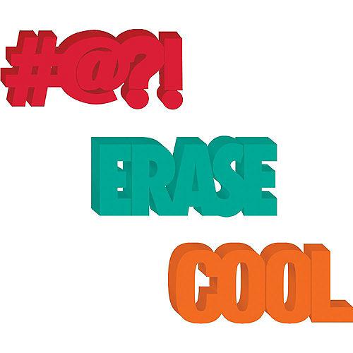 Erase, #@?! & Cool Jumbo Word Erasers, 3pc Image #1