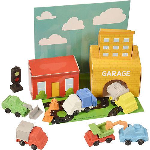3D Trucks Eraser Playset, 9pc Image #1