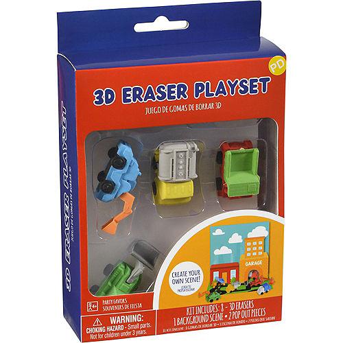 3D Trucks Eraser Playset, 9pc Image #3