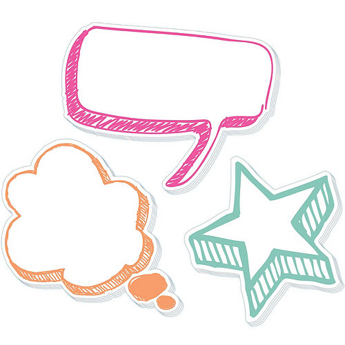 Multicolor Speech Bubble Sticky Notes, 3ct Image #1