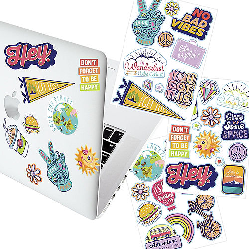 Groovy Icon & Slogan Decals, 3 Sheets Image #1