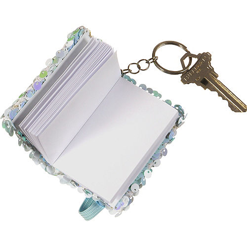 Mini Flip Sequin Notebook Keychain Image #2