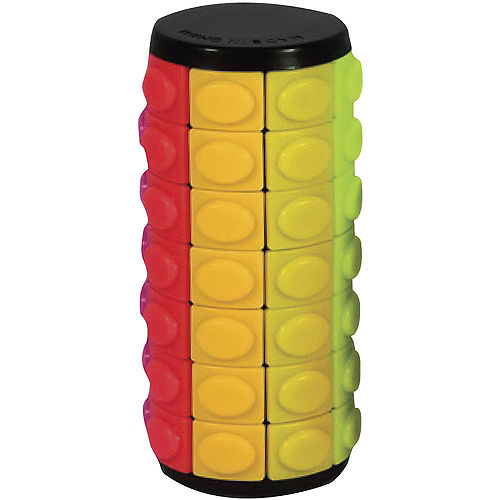 Rainbow 7-Layer Cylinder Slide Puzzle Image #1