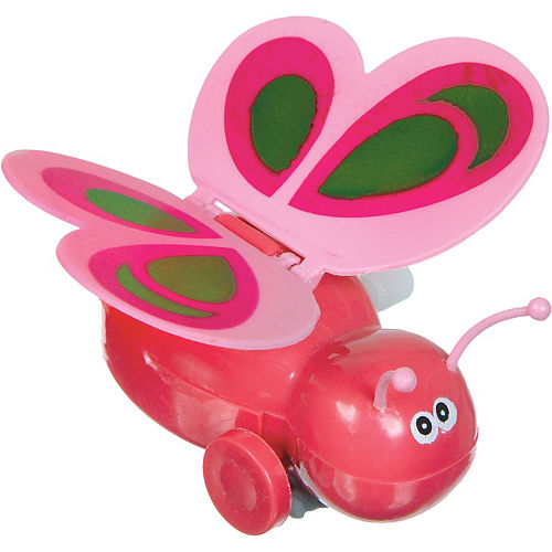 Wind-Up Pink Butterfly Toy Image #1