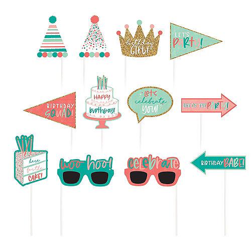 Happy Cake Day Birthday Photo Booth Kit 16pc Image #2