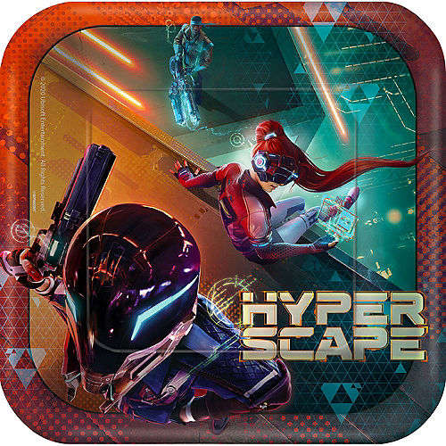 Hyper Scape Lunch Plates, 9in, 8ct Image #1