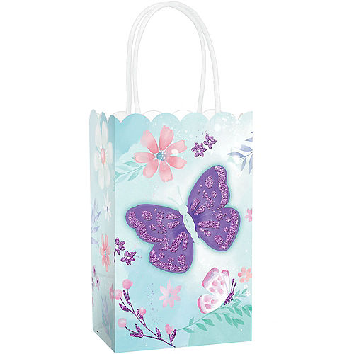 Glitter Flutter Favor Bags 8ct Image #1