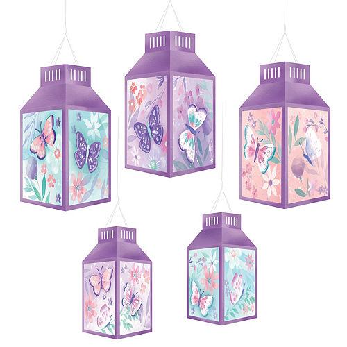 Flutter Paper Lanterns 5ct Image #1