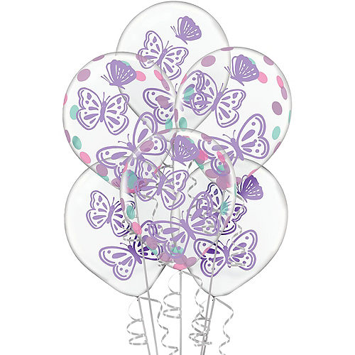 Flutter Confetti Balloons, 12in, 6ct Image #1