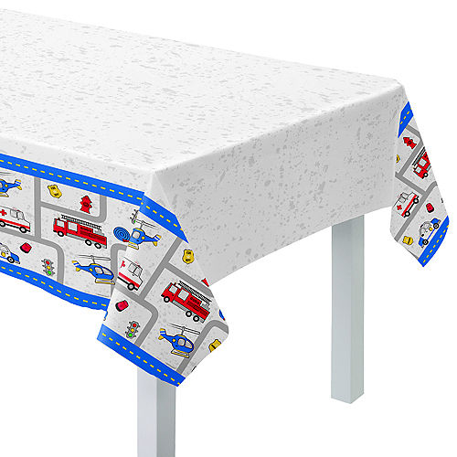 First Responders Plastic Table Cover Image #1