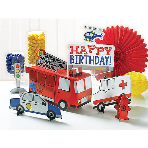 First Responders Table Decorating Kit, 6pc Image #1
