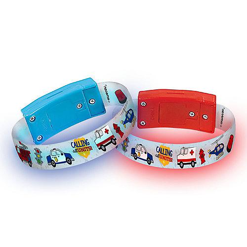 Light-Up First Responders Bracelets, 4ct Image #1