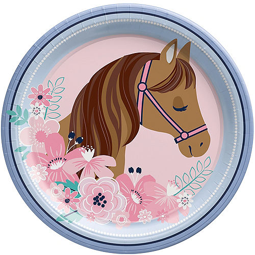 Saddle Up Paper Lunch Plates, 9in, 8ct Image #1
