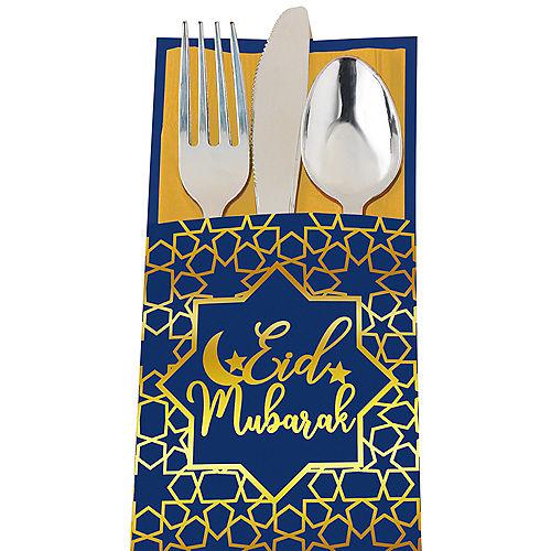 Eid Mubarak Paper Cutlery Sleeves, 12ct Image #1