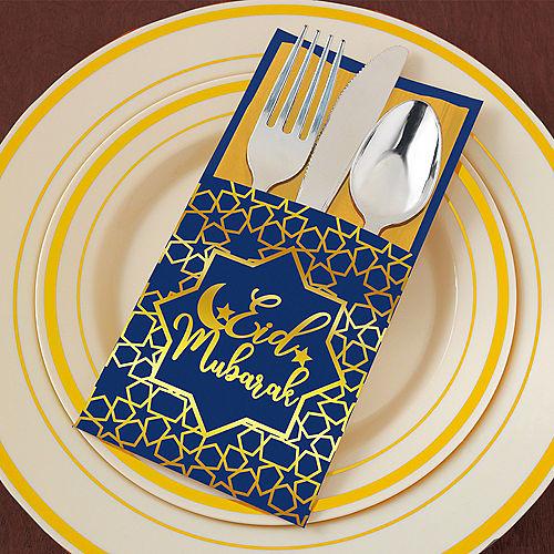 Eid Mubarak Paper Cutlery Sleeves, 12ct Image #2