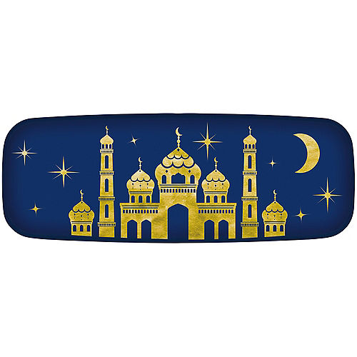 Mosque at Night Eid Hot Stamp Melamine Platter, 17.5in x 6.5in Image #1