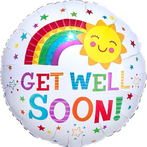 Radiant Rainbow Get Well Soon Balloon Bouquet, 16pc Image #6
