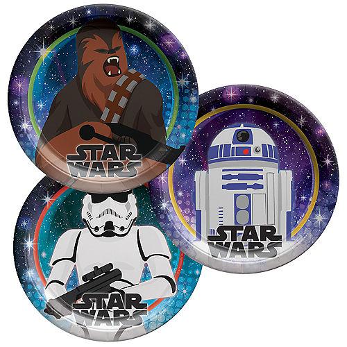 Star Wars Galaxy of Adventures Paper Dessert Plates, 7in, 8ct Image #1