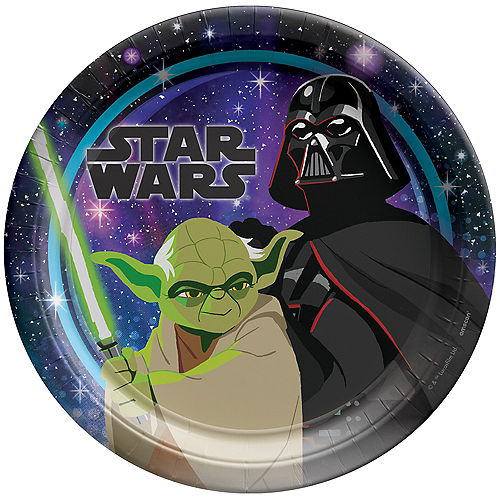 Star Wars Galaxy of Adventures Paper Lunch Plates, 9in, 8ct Image #1