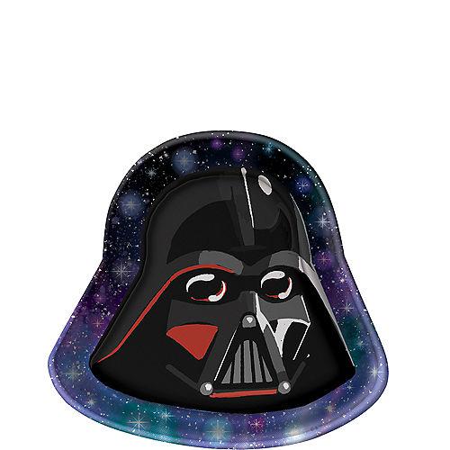 Star Wars Galaxy of Adventures Darth Vader-Shaped Dessert Plates, 8.4in, 8ct Image #1