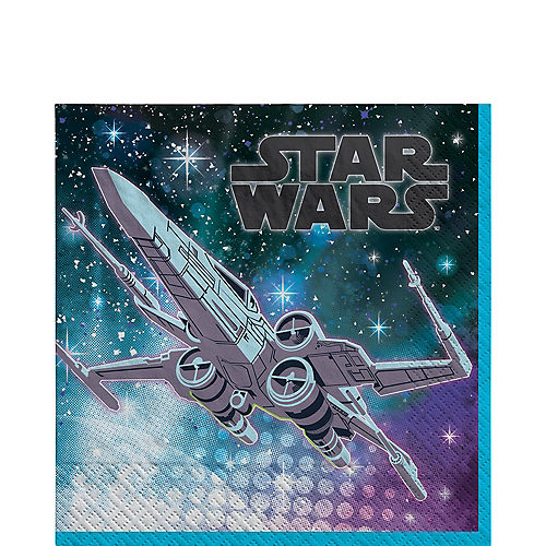 X-Wing Paper Lunch Napkins, 6.5in, 16ct - Star Wars Galaxy of Adventures Image #1