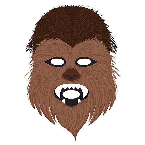 Chewbacca Fabric Face Mask, 6.4in x 9.9in - Star Wars Galaxy of Adventures Image #1