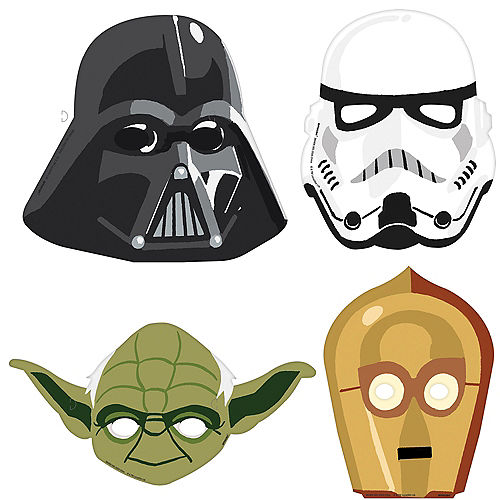 Star Wars Galaxy of Adventures Cardstock Face Masks, 8ct Image #1
