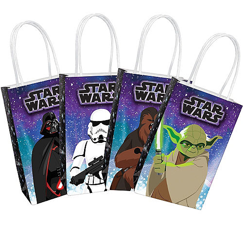 Star Wars Galaxy of Adventures Create Your Own Kraft Favor Bag Kit, 5.2in x 8.4in, 8ct Image #1