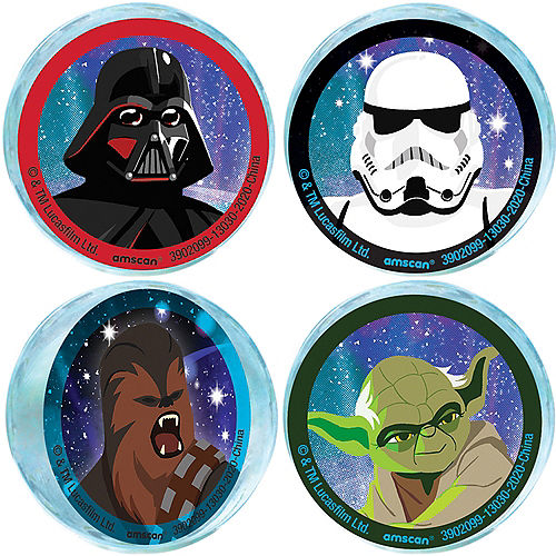 Star Wars Galaxy of Adventures Rubber Bounce Balls, 1.6in, 4ct Image #1