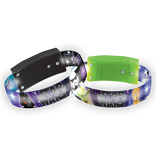 Light-Up Star Wars Galaxy of Adventures Plastic Bracelets, 3.4in, 4ct Image #1