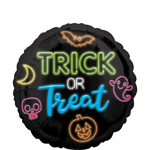 Trick or Treat Skelly Halloween Balloon Bouquet, 5pc Image #3