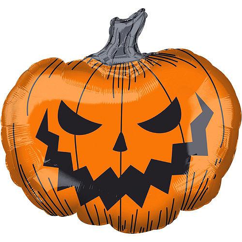 Scary Jack-O'-Lantern Halloween Balloon Bouquet, 9pc Image #3