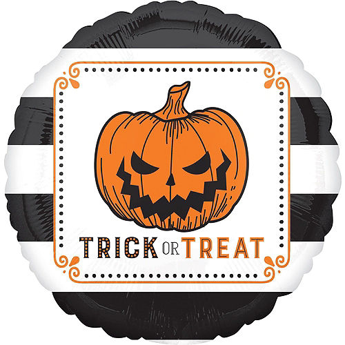 Scary Jack-O'-Lantern Halloween Balloon Bouquet, 9pc Image #4