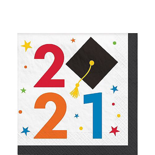 Congratulations 2021 Graduation Lunch Napkins, 6.5in, 40ct Image #1