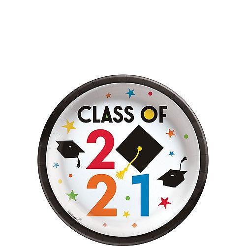 Congratulations 2021 Graduation Paper Dessert Plates, 6.75in, 20ct Image #1