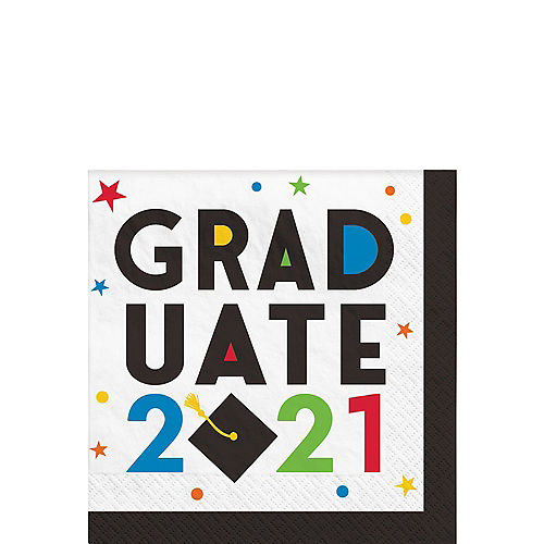 Nav Item for Congratulations 2021 Graduation Beverage Napkins, 5in, 40ct Image #1