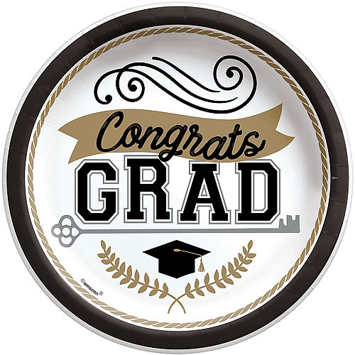 Achievement is Key Graduation Paper Lunch Plates, 8.5in, 50ct Image #1