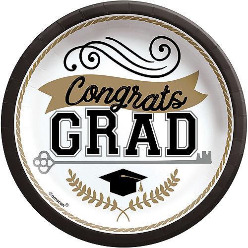 Achievement is Key Graduation Paper Dessert Plates, 6.75in, 50ct Image #1