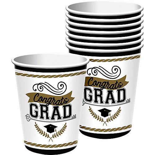 Achievement is Key Graduation Paper Cups, 9oz, 50ct Image #1