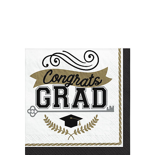Achievement is Key Graduation Beverage Napkins, 5in, 100ct Image #1