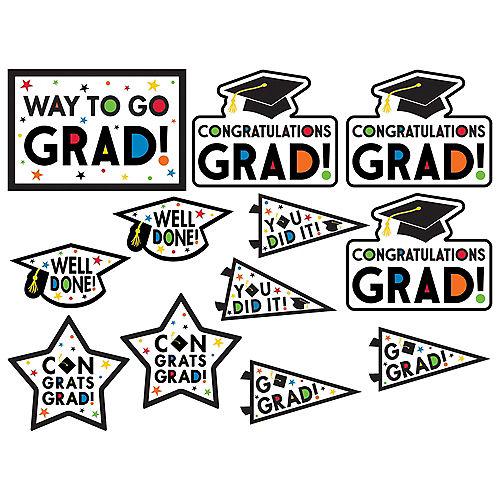 Multicolor Congratulations Grad Cardstock Cutouts, 12ct Image #1