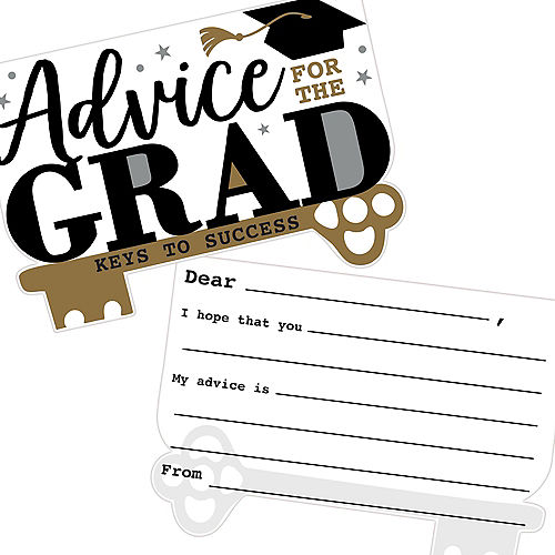 Nav Item for Keys to Success Graduation Advice Cards, 24ct Image #1