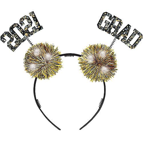 Light-Up Glitter 2021 Grad Pom-Pom Headbopper Image #1