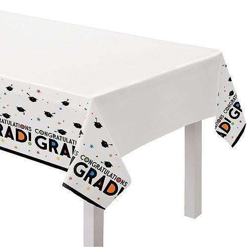 Congratulations 2021 Graduation Plastic Table Cover, 54in x 102in Image #1