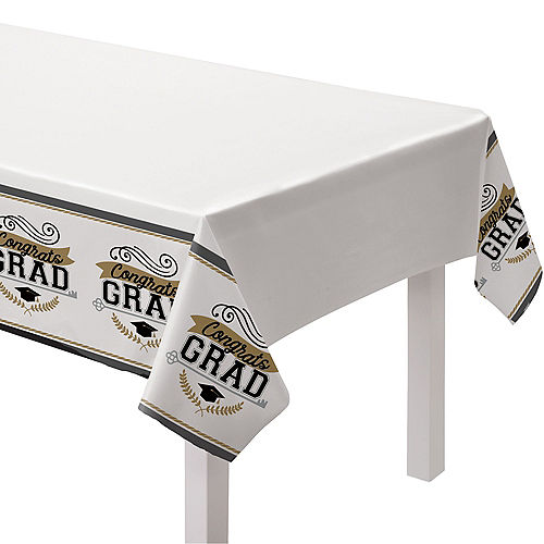 Congratulations 2021 Graduation Plastic Table Covers, 54in x 84in, 3ct Image #1